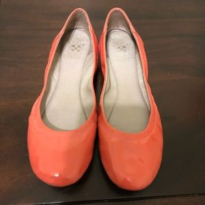 Coral patent flats by Vince Camuto